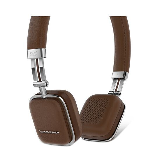 Soho Wireless - Brown - Premium, on-ear headset with simplified Bluetooth® connectivity. - Detailshot 1